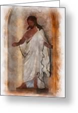 Jesus Photo Art Greeting Card