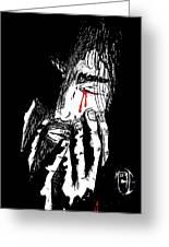 Jesus Wept Red Tears Greeting Card