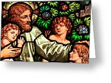 Jesus With Children Greeting Card