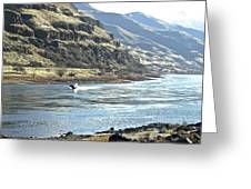 Jet Boating On The Snake Greeting Card