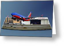 Jet Chicago Airplanes 12 Out Of Bounds Greeting Card