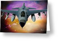 Jet Fighter Aircraft F-16 Falcon Aircraft  Greeting Card