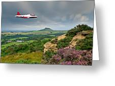 Jet Provost Over The Cleveland Hills Greeting Card