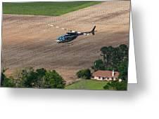 Jet Ranger Flyby Greeting Card