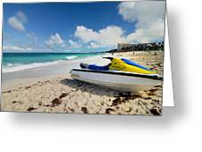 Jet Ski On The Beach At Atlantis Resort Greeting Card by Amy Cicconi