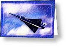 Jet Speed Greeting Card