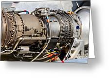 Jet Turbine Engine  Greeting Card