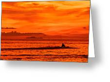 Jetski Ride Into The Sunset Greeting Card