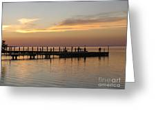 Jetty In The Eveninglight Greeting Card