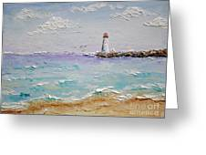 Jetty Lighthouse Greeting Card