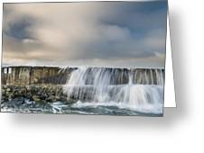 Jetty Spillover Waterfall Greeting Card