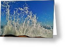Jetty Splash And Plane 5 10/1 Greeting Card