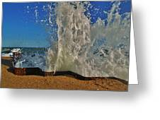 Jetty Splash 8 10/1 Greeting Card