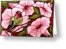 Jewel Among Blooms Greeting Card