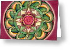 Jewel Of The Heart Mandala Greeting Card