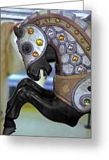 Jeweled Carousel Prancing Horse Greeting Card