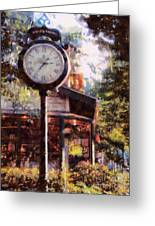 Jewelry Square Clock Milford  Greeting Card