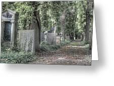 Jewish Cemetery Weissensee Berlin Germany Greeting Card