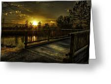 J.f. Gregory Park Sunset Greeting Card