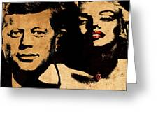 Jfk And Marilyn Greeting Card