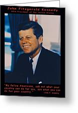 Jfk John F Kennedy Greeting Card by Official White House Photo