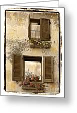 Orvieto Window Polaroid Greeting Card