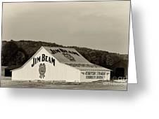 Jim Beam - D008291-bw Greeting Card