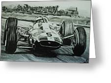 Jim Clark Action Greeting Card