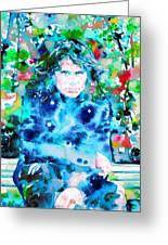 Jim Morrison Watercolor Portrait.3 Greeting Card