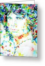 Jim Morrison Watercolor Portrait.5 Greeting Card