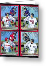 Jim Thome Hits 600th Home Run Greeting Card by Ray Tapajna