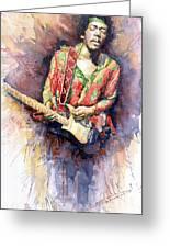 Jimi Hendrix 09 Greeting Card