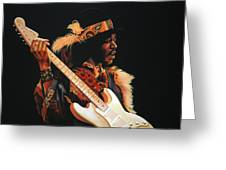 Jimi Hendrix 3 Greeting Card