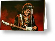 Jimi Hendrix Painting Greeting Card