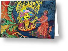 Jimi Hendrix Rainbow Bridge Greeting Card