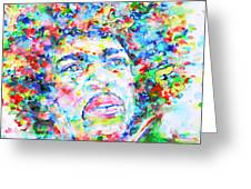 Jimi Hendrix  - Watercolor Portrait.3 Greeting Card