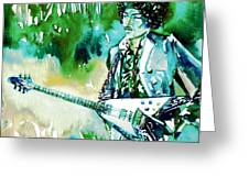 Jimi Hendrix With Guitar Greeting Card