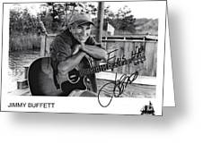 Jimmy Buffett Fins Up Signed Photo Greeting Card