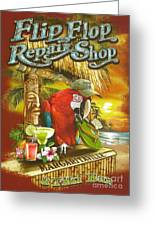 Jimmy Buffett's Flip Flop Repair Shop Greeting Card