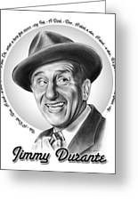 Jimmy Durante Greeting Card