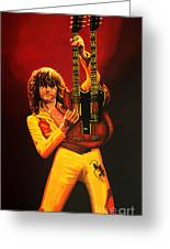 Jimmy Page Painting Greeting Card