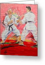 Jiyu Kumite Greeting Card