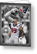 Jj Watt Texans Greeting Card