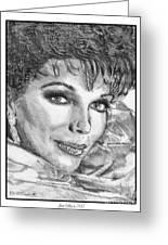Joan Collins In 1985 Greeting Card
