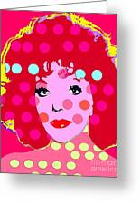 Joan Collins Greeting Card by Ricky Sencion