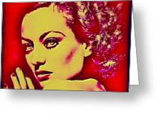 Joan Crawford Greeting Card