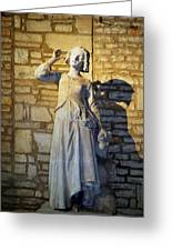 Joan Of Arc Hearing Voices By Francois Rude Greeting Card