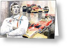 Jochen Rindt Golden Leaf Team Lotus Lotus 49b Lotus 49c Greeting Card