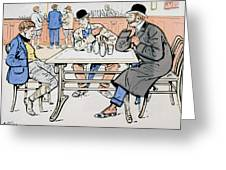 Jockey And Trainers In The Bar Greeting Card