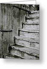 The Monochrome Steps Greeting Card